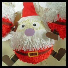 Pinata- Christmas- Babbo Natale- Père Noel- by Ola Pinata http://www.olapinata.com- for www.la-fabrica-quoi.com christmas market -15th dec.2013