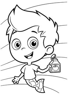 Accomplished image in bubble guppies printable coloring pages