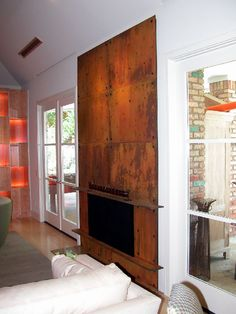 corten fireplace - Google Search