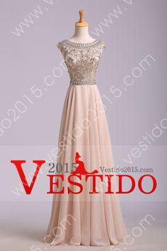 2014 vestidos de baile Elegante A-Line Scoop blusa moldeada suelo Chifón cremallera de la espalda USD 159.99 VEPPGEEZGB - Vestido2015.com