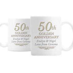 Set of 2 Celebrating Our 30th Wedding Anniversary Mugs