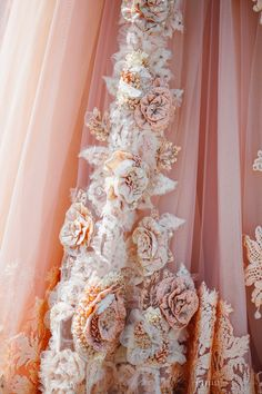 Beautiful peach wedding attire details | Project by Flawless Pictures http://www.bridestory.com/flawless-pictures/projects/m-s-samabe-wedding