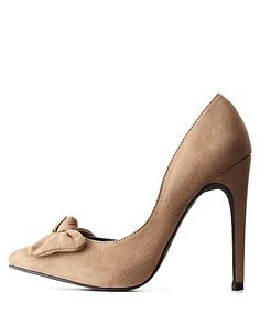 Bow-Topped Pointed Toe D'Orsay Pumps: Charlotte Russe
