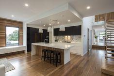 2 1141 Pure White™ - Big House Little House Bathroom Interior Design, Kitchen Interior, Kitchen Living, New Kitchen, Kitchen Island, Black Kitchens, Home Kitchens, Residential Building Design, Timber Kitchen