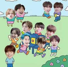 Funny Kpop Memes, Stupid Memes, K Pop, Kpop Logos, Fandom Kpop, Vs The World, Treasure Maps, Cartoon Jokes, Line Friends
