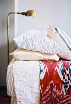 just a glimpse of that coverlet has my scouring the web for ikat.  yes, i know ikat is huge right now but i swear i'll still be rocking it after its long out of style.