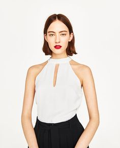 TOP WITH DRAPED BACK