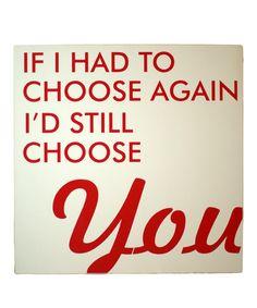 Cream & Red 'Choose Again' Wall Art #zulily #zulilyfinds