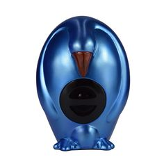 Homeshine Resin Penguin Blue Portable Wireless Bluetooth Speaker with Led Light. This new listed gorgeous novelty Bluetooth Penguin Speaker, in classic simplicity with life size and beak of the Penguin flashing when you play the music, which fits to home fantastically, offer you the beautiful enjoying not only for ears but also for eyes!. This wireless Penguin speaker is carrying powerful stereo speaker and night light functions, with high-quality smooth and soft pad underneath to protect...