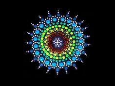 How to paint rock mandalas #4- Christmas design - YouTube