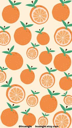 Yummy Oranges wallpaper by @insangle in 2021   Illustrator artists, Orange wallpaper, Instagram icons