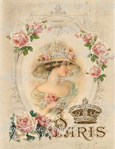 Large digital download Charmed in Paris by CottageRoseGraphics, $3.75