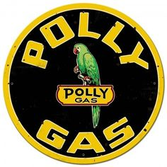 VINTAGE SIGN Full Service Polly Gas 32 x 11