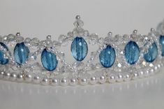 Hey, I found this really awesome Etsy listing at https://www.etsy.com/listing/171911075/lovely-blue-beaded-tiara-with-crystals