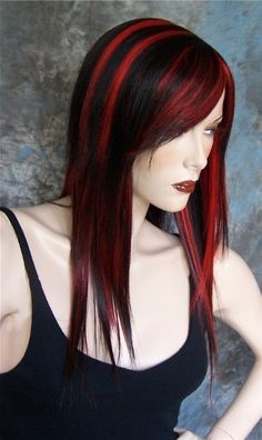 Black And Red Hairstyles For Long Hair Long Hair Styles Hair