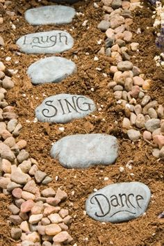 Use stones to show the way.goodhousemag