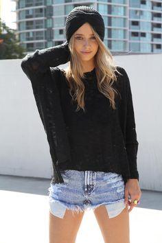 Black Knit Turbans