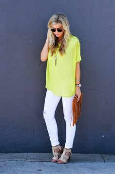 DIY Sewing Projects for Women - Sew A Chartreuse Oversized Dolman Top - How to Sew Dresses, Blouses, Pants, Tops and Fashion. Step by Step Tutorials and Instructions  http://diyjoy.com/diy-sewing-projects-for-women