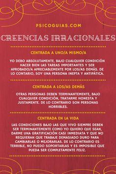 Las 3 Principales Creencias Irracionales según Albert Ellis.