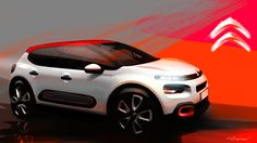 Love at first sketch! #CitroënC3