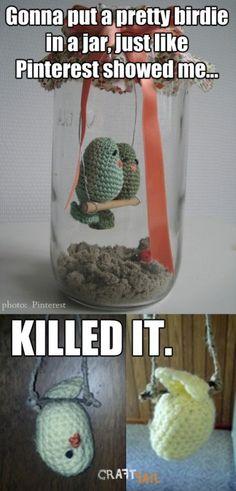 Bye Bye Crocheted Birdie | CraftFail