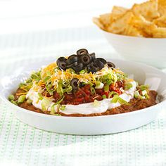 Ultimate Dip - Find this recipe and more at Kraft Foods Everyday Delicious. Kraft Foods, Kraft Recipes, Dip Recipes, Mexican Food Recipes, Appetizer Recipes, Cooking Recipes, Ethnic Recipes, Mexican Dishes, Recipies
