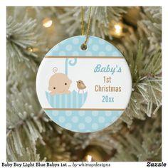 Baby Boy Light Blue Babys 1st Christmas Ceramic Ornament Babys 1st Christmas, Baby First Christmas Ornament, Baby Ornaments, Christmas Cards, Gifts For New Parents, Baby Design, Light Blue, Baby Boy, Crafty