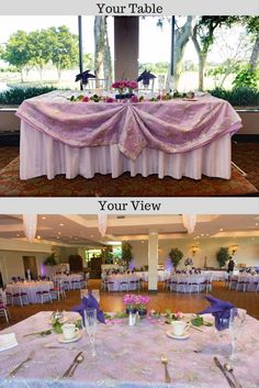Lavender & purple sweetheart table at Jacaranda Country Club in Plantation, FL Bride Groom Table, Sweetheart Table, Reception Table, Wedding Pictures, Lavender, Tables, Memories, Club, Photo And Video