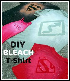 fun idea -- Six Sisters' Stuff: DIY Bleach T-shirt Tutorial - The Perfect Valentines Gift for Him or Her! Do It Yourself Mode, Do It Yourself Fashion, Cute Crafts, Crafts To Do, Diy Crafts, T Shirt Tutorial, Bleach T Shirts, Bleach Pen, Bleach Spray Shirt