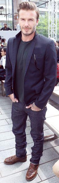 David Beckham casual look.