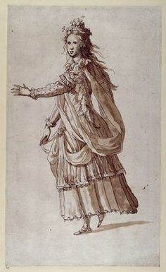 """Inigo Jones Costume design for a Torchbearer in the """"Masque of Costume for a Torchbearer of Oceania from the. Duke Of Devonshire, Renaissance Fair, Renaissance Costume, Chatsworth House, Grisaille, Drawing Reference, Designs To Draw, Alice In Wonderland, Poster Size Prints"""