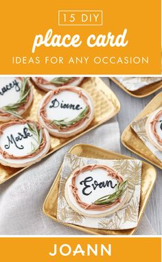Add that extra-special touch to your Thanksgiving table with these 15 DIY Place Card Ideas from JOANN! With colorful paper and even cookie designs, you're sure to find the right project for your celebration.
