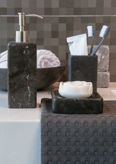Black & strong like the Hammam Series for a cool bath area.
