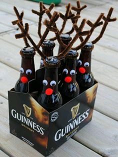 Funny gift! Use bud light instead...his favorite beer...lol