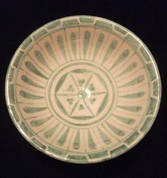 **Milet işi seramik , çanak formu, renkli astar (söğüt astar+bakır oksit) dekorlu, ...