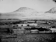 """""""A Montana ranch, comfortable if not elegant, and the home of many well-to-do persons engaged in mining or stock-raising."""" By Jackson, 1872 American War, American History, Native American Children, Montana Ranch, Pioneer Life, Louisiana Purchase, American Frontier, Le Far West, American Revolution"""