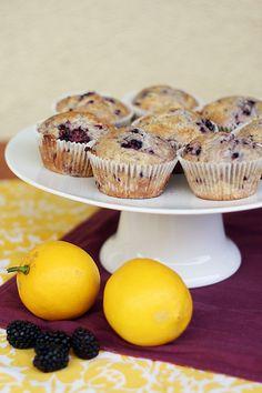 Blackberry and Lemon Muffins (by Jigginjessica)