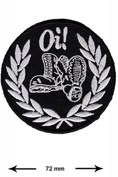 Patch - Oi - Laurel wreath - Skinheads - Punk - combat boots - Punk Patch - Vest - Iron on Patch - Embroidered Patches - Applique - Sign - Badge - Costume - Gift - Patch555 Patch http://www.amazon.com/dp/B00V287V0Q/ref=cm_sw_r_pi_dp_u.9swb1P1JDAE