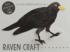 Raven Printable Craft