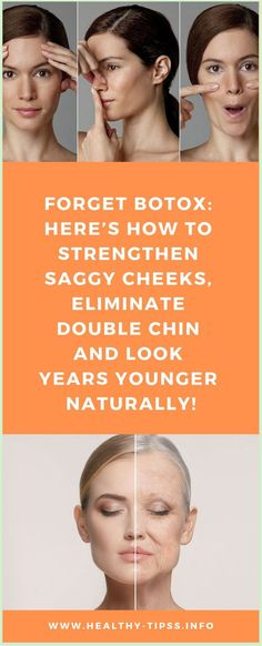 FORGET BOTOX: HERE�S HOW TO STRENGTHEN SAGGY CHEEKS, ELIMINATE DOUBLE CHIN AND LOOK YEARS YOUNGER NATURALLY! Stress And Health, Mental Health, Brain Health, Gut Health, Personal Beauty Routine, Skin Tightening Mask, Health Planner, Healthy Lifestyle Habits, Face Wrinkles