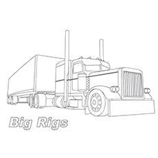 Big Truck Colouring Pages Truck Coloring Pages Big Trucks Big Rig Trucks