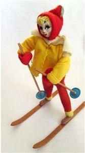 Vintage felt ski doll