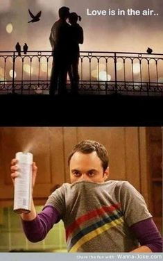 ?Love is in the air.? Gross.