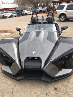 L〰Polaris Slingshot.these 3 wheelers are so cool.have seen a few on the road now.immediately grabs everyone's attention! Polaris Slingshot, Slingshot Car, Quad, Reverse Trike, Trike Motorcycle, Kart, Buggy, Cool Motorcycles, Sweet Cars
