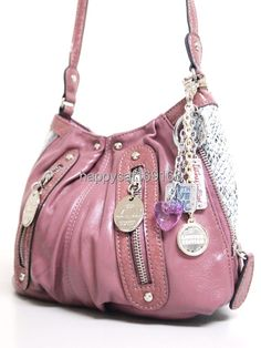 Details about KATHY Van Zeeland Special Handbag Fushia 325d8b2da223e