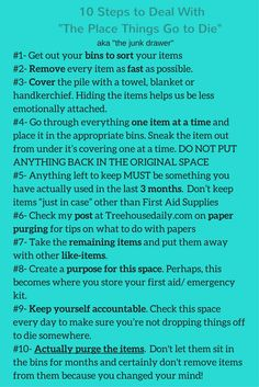 10 easy steps to help downsize & organize the junk drawer (or any other area in your home!)