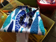 Handle made from some of Grandmama's Chico's beads! Easter Baskets, Lunch Box, Handle, Notes, Purses, Beads, Projects, Handbags, Beading