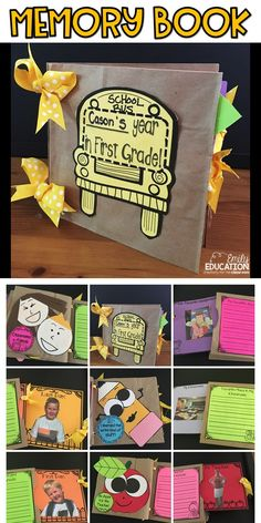 Adorable Memory Book for your students to remember the school year. This is a paper bag memory book. This memory book has options for Kindergarten, First Grade, or Second Grade.
