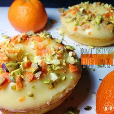 Orange Is The New Black Food Idea - Orange Pistachio Baked Donuts #BAYFOOD