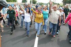 Caminata junto a la alcaldesa  Evelin Trecho de Rosales